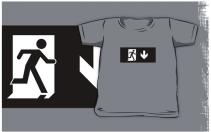Running Man Exit Sign Kids T-Shirt 26