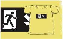 Running Man Exit Sign Kids T-Shirt 27