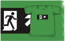 Running Man Exit Sign Kids T-Shirt 28