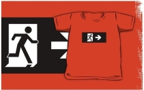 Running Man Exit Sign Kids T-Shirt 29