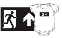 Running Man Exit Sign Kids T-Shirt 30