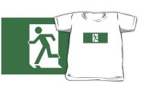 Running Man Exit Sign Kids T-Shirt 31