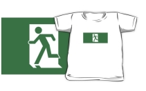 Running Man Exit Sign Kids T-Shirt 31