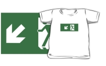 Running Man Exit Sign Kids T-Shirt 33