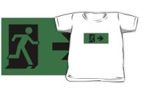 Running Man Exit Sign Kids T-Shirt 35
