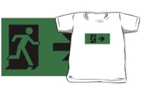 Running Man Exit Sign Kids T-Shirt 35