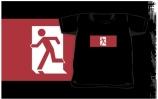 Running Man Exit Sign Kids T-Shirt 36