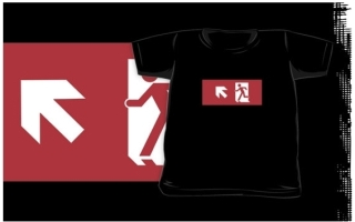 Running Man Exit Sign Kids T-Shirt 39