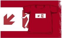 Running Man Exit Sign Kids T-Shirt 4