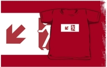 Running Man Exit Sign Kids T-Shirt 4