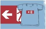 Running Man Exit Sign Kids T-Shirt 40