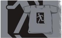 Running Man Exit Sign Kids T-Shirt 41