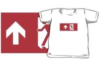 Running Man Exit Sign Kids T-Shirt 42