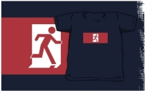 Running Man Exit Sign Kids T-Shirt 43
