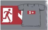 Running Man Exit Sign Kids T-Shirt 44