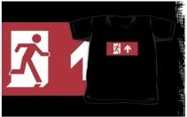 Running Man Exit Sign Kids T-Shirt 45