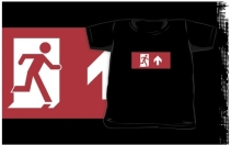 Running Man Exit Sign Kids T-Shirt 45