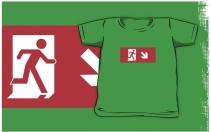 Running Man Exit Sign Kids T-Shirt 46