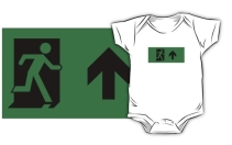 Running Man Exit Sign Kids T-Shirt 47