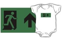 Running Man Exit Sign Kids T-Shirt 47