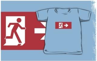 Running Man Exit Sign Kids T-Shirt 48
