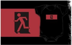 Running Man Exit Sign Kids T-Shirt 49