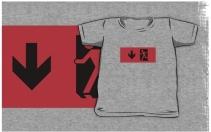 Running Man Exit Sign Kids T-Shirt 50