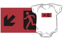 Running Man Exit Sign Kids T-Shirt 51