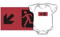 Running Man Exit Sign Kids T-Shirt 51