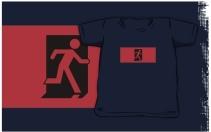 Running Man Exit Sign Kids T-Shirt 56
