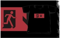 Running Man Exit Sign Kids T-Shirt 59