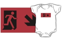 Running Man Exit Sign Kids T-Shirt 60