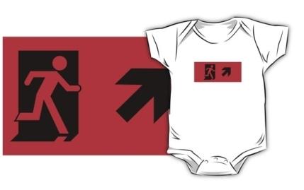 Running Man Exit Sign Kids T-Shirt 61