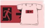 Running Man Exit Sign Kids T-Shirt 62