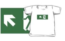 Running Man Exit Sign Kids T-Shirt 63