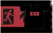 Running Man Exit Sign Kids T-Shirt 64