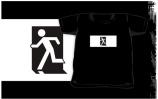 Running Man Exit Sign Kids T-Shirt 65