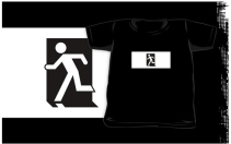 Running Man Exit Sign Kids T-Shirt 65