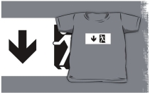 Running Man Exit Sign Kids T-Shirt 66