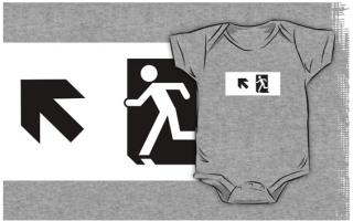 Running Man Exit Sign Kids T-Shirt 68