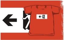Running Man Exit Sign Kids T-Shirt 69