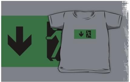Running Man Exit Sign Kids T-Shirt 70