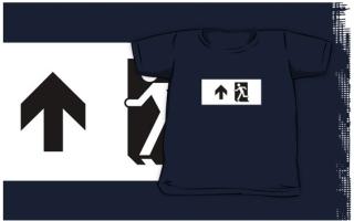 Running Man Exit Sign Kids T-Shirt 72