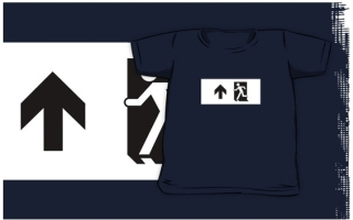 Running Man Exit Sign Kids T-Shirt 72