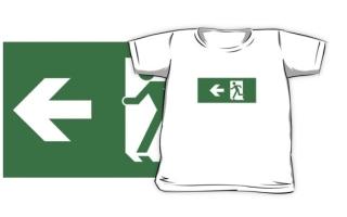 Running Man Exit Sign Kids T-Shirt 74