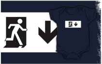 Running Man Exit Sign Kids T-Shirt 75