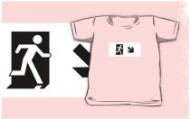 Running Man Exit Sign Kids T-Shirt 76
