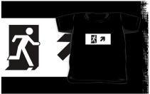 Running Man Exit Sign Kids T-Shirt 77