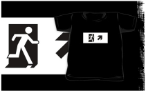 Running Man Exit Sign Kids T-Shirt 77