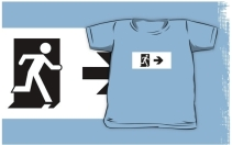 Running Man Exit Sign Kids T-Shirt 78